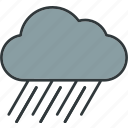 cloudy, rain, weather icon