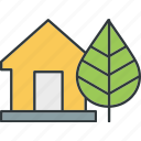 energy, green, saving, warehouse icon
