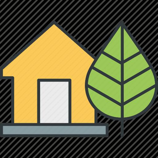 energy, green, saving, warehouse icon