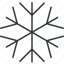 snow, snowflake, winter icon