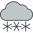 and, cloudy, snowy, the, weather icon