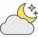 moon, stars, sunny, the, weather icon