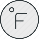 fahrenheit, thermometer, weather icon