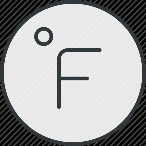 fahrenheit, thermometer, weather icon