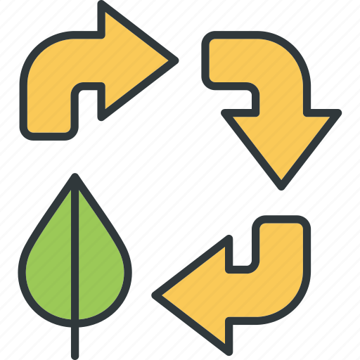 arrows, recycling, resources icon
