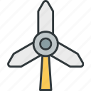direction, generation, power, wind, windmill icon