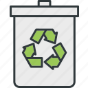 bins, environmental, protection, recycling, trash icon