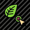 bio, eco, ecofriend, ecology, leafcursor, nature icon