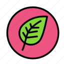 bio, eco, ecofriend, ecology, leafround, nature icon