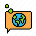 bio, chat, earth, eco, ecofriend, ecology, nature icon