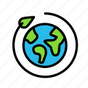 bio, earth, eco, ecofriend, ecology, nature, return icon