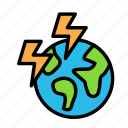 bio, earth, eco, ecofriend, ecology, nature, thunder icon