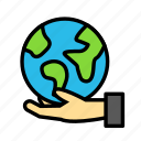 bio, earth, eco, ecofriend, ecology, hand, nature icon