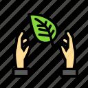 bio, eco, ecofriend, ecology, hands, leaf, nature icon