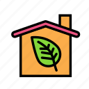 bio, eco, ecofriend, ecology, house, leaf, nature icon