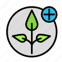 add, bio, eco, ecofriend, ecology, nature, plant icon