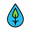 bio, eco, ecofriend, ecology, leaf, nature, waterdrop icon