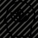 avatar, brain, character, idea, plants, profile icon
