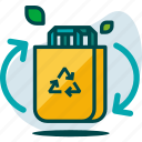 bag, eco, ecology, nature, paper, recycle, shopping icon