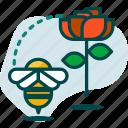 bee, bio, eco, ecology, flower, plant, spring icon