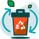 bin, delete, environment, garbage, recycle, recycling, remove icon