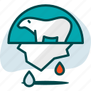 animal, bear, ecology, environment, ice, nature, polar icon