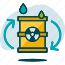 ecology, energy, environment, nature, nuclear, power, recycle icon