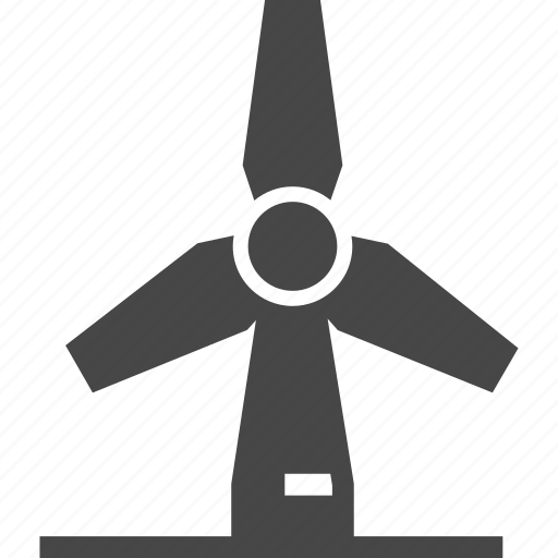 ecology, power, windmill icon