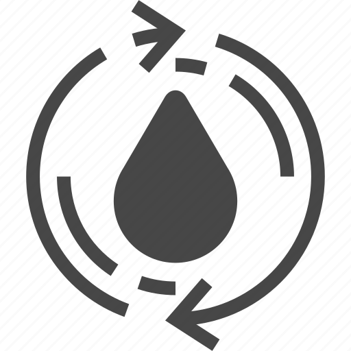 drops, rain, recycle, water icon