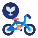 bicycle, ecology, transportation, vehicle icon