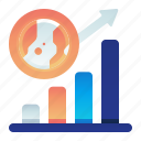chart, earth, growth, presentation icon
