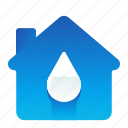 ecofriendly, ecology, environment, house, water icon