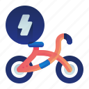 bicycle, bike, electric, transportation, vehicle icon