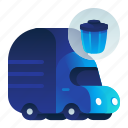 garbage, transportation, trash, truck, vehicle icon