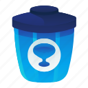 ecology, environment, glass, recycle, waste icon