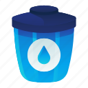 ecology, environment, liquid, recycle, waste icon