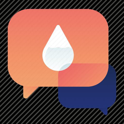 chat, communication, conversation, nature, talk, water icon