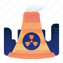 ecology, environment, nuclear, plant, power icon