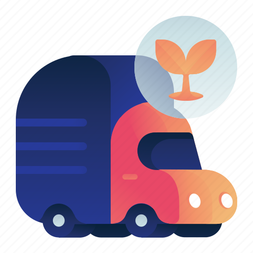 garbage, organic, transportation, truck, vehicle icon