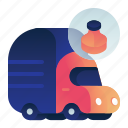garbage, plastic, transportation, truck, vehicle icon