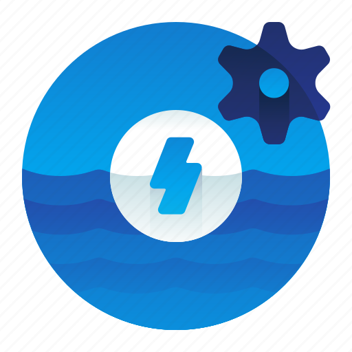 ecology, electric, electricity, powered, water icon