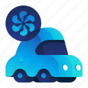 car, ecology, environment, vehicle, wind icon