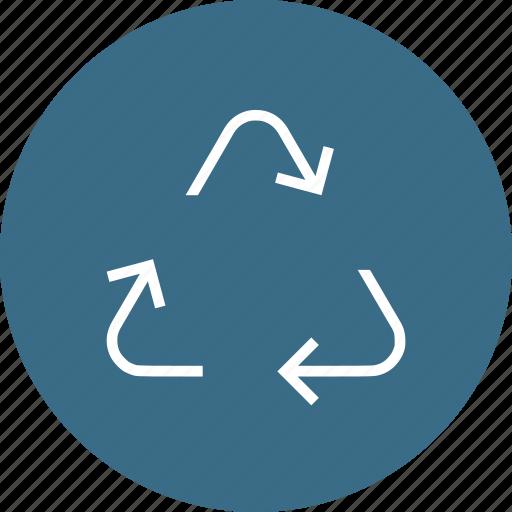 ecology, environmen, nature, recycle, revolution, synchronize icon