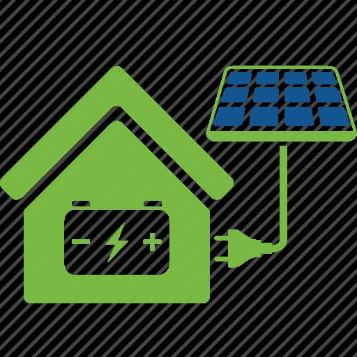 cells, eco, ecology, energy, house, solar, sun icon