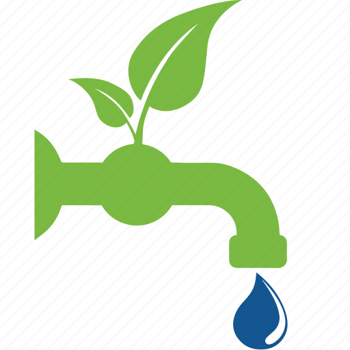 bio, eco, ecology, guardar, leaf, save, tap, water icon