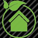 bio, eco, ecology, energy, house, nature, recycle icon