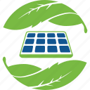 eco, ecology, guardar, hand, leaf, panel, save, solar icon