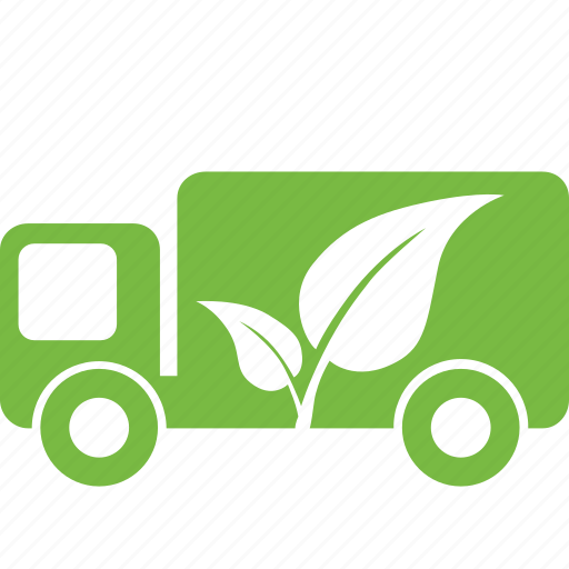eco, ecology, friendly, green, natue, truck, vehicle icon