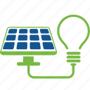 eco, ecology, energy, flower, lamp, panel, solar icon