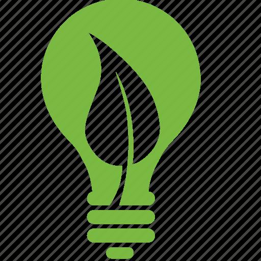eco, ecology, energy, environment, lamp, leaf, light icon